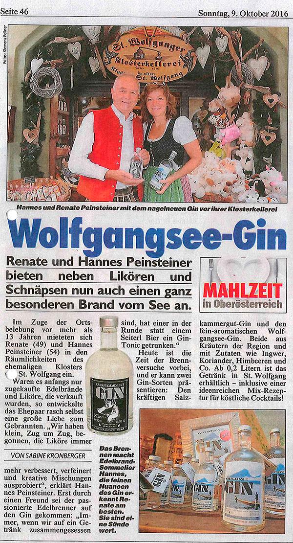 ARTIKEL KRONE - Wolfgangsee-Gin